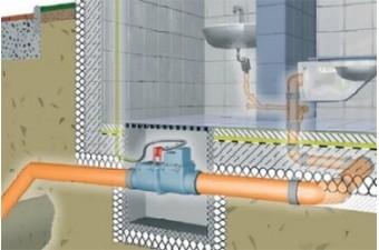 Принцип работы 110 мм обратного клапана в канализации