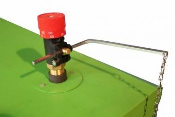 Регулятор тяги для котла на твердом топливе