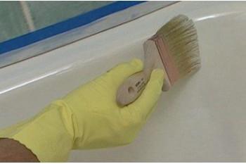 Покраска эмалью – дешевый способ восстановления ванны