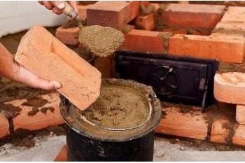 Виды и состав смеси для кирпичной кладки печей