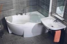 Характеристики угловых акриловых ванн