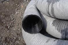 Трубы для дренажа с перфорацией и геотекстилем