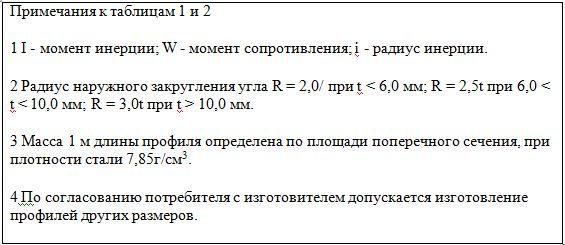 примечания к таблицам 1 и 2