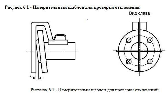 измерителный шаблон для проверки отклонений