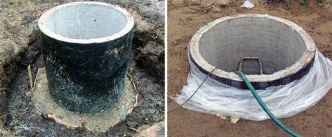 гидроизоляция бетонных колец для канализации