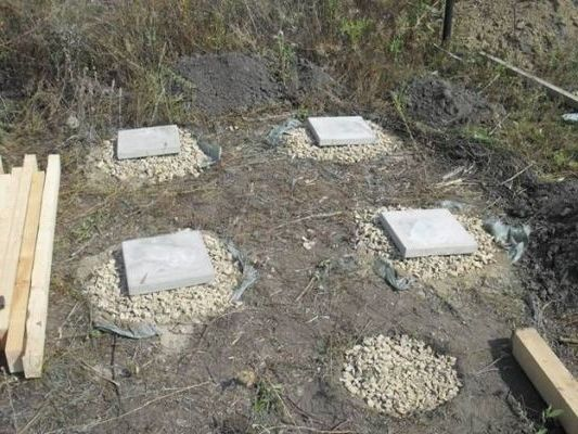 брусчатка с бетонными плитами