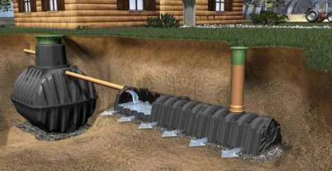 переливной колодец канализации