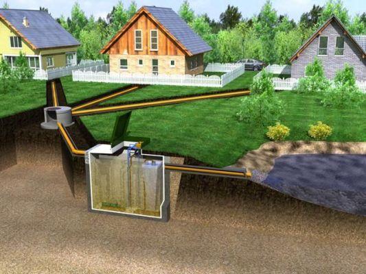 канализация для нескольких домов