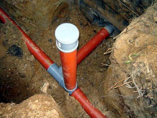 трубопровод для канализации на даче