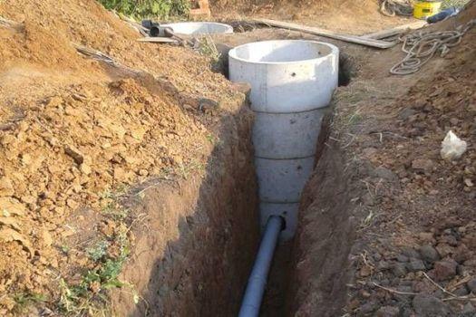 какая глубина необходима для канализации