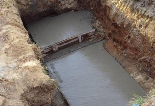 бетонная основа септика