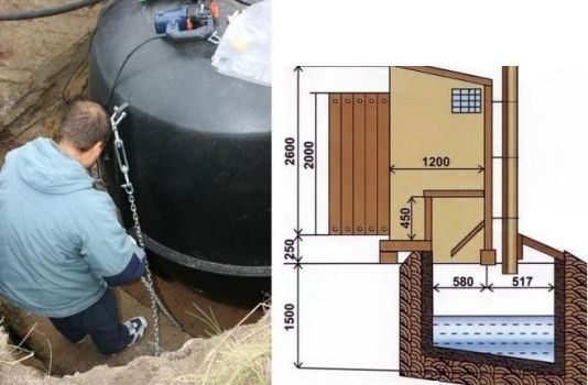 пластиковый резервуар для туалета