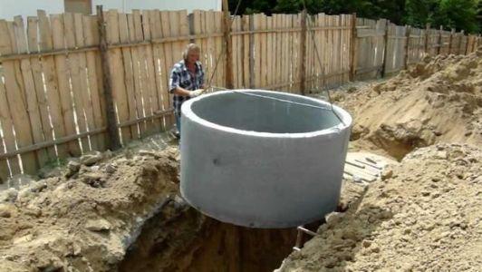 котлован для бетонных колец