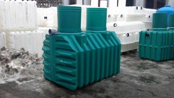 резервуар септика на заводе