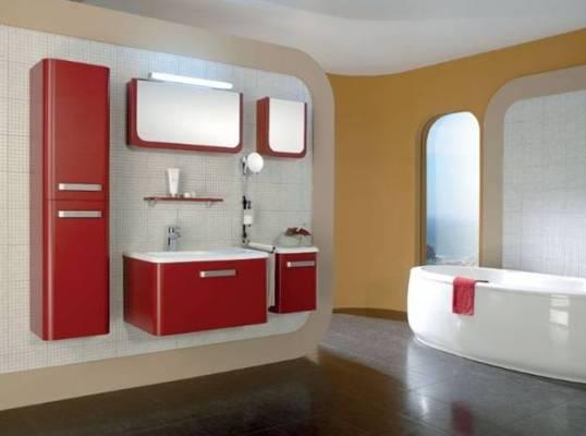 комплекты с шкафчиком и зеркалом для ванной комнаты