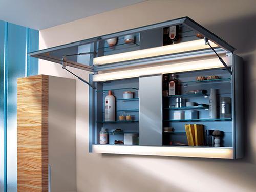 горизонтальные шкафчики с зеркалом
