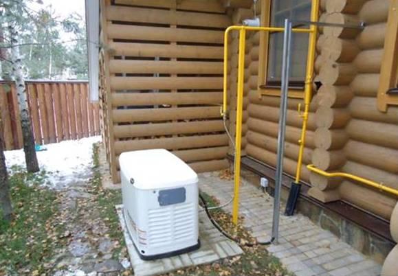 газогенератор вне дома