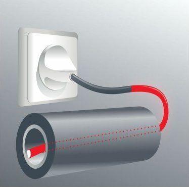 подключение греющего кабеля к сети