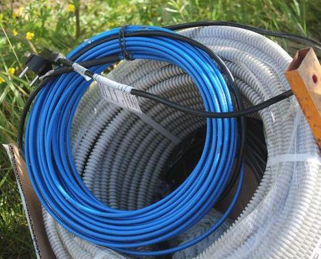греющий кабель в сборе