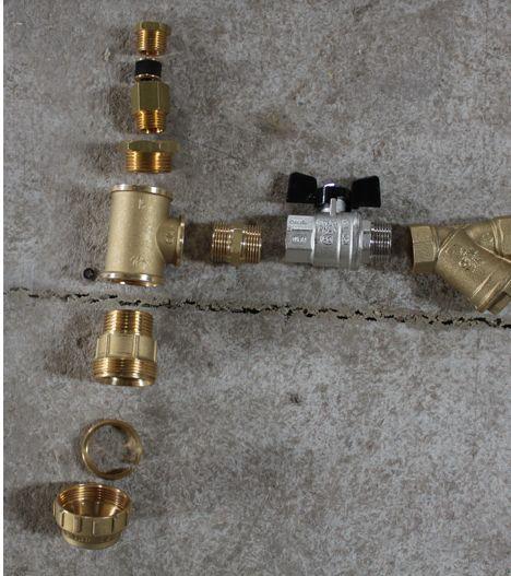 комплектующие элементы с тройником