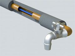 монтаж кабеля внутри трубы