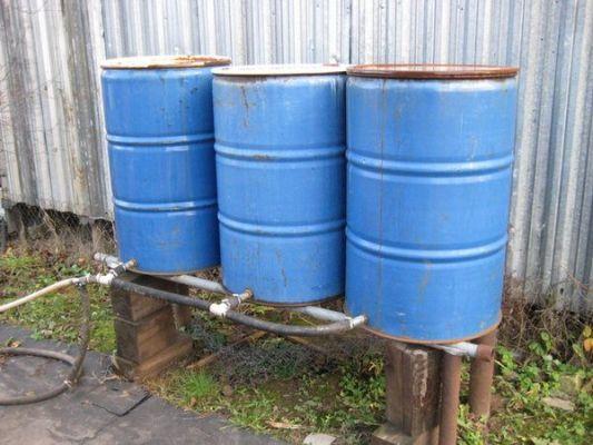 бочки для полива огорода