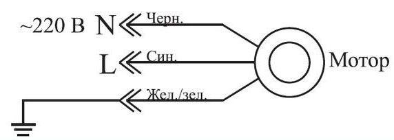 мотор с проводами