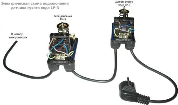 электрическая схема подключенияреле