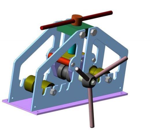 модель ручного трубогиба
