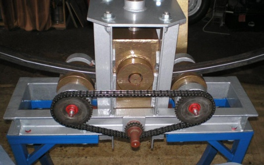 трехвалковый трубогиб с редуктором