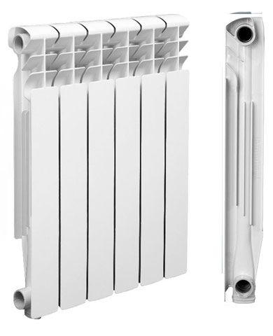 алюминиевый радиатор вид сбоку