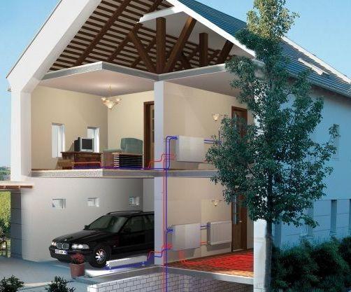 дом с отоплением