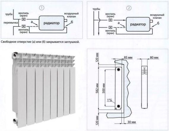 схема работы батареи биметаллической