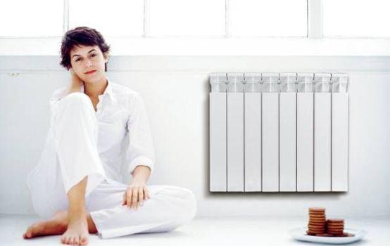 с биметаллическим радиатором отопления в доме тепло