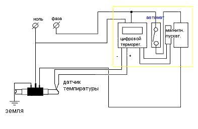 схема для самостоятельного изготовления электродного котла