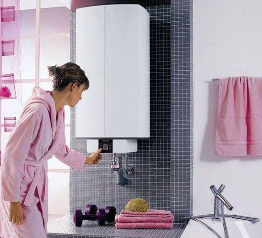 котел отопления в ванной