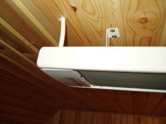 как монтировать к потолку