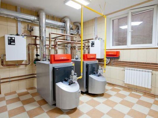 система отопления газ дрова