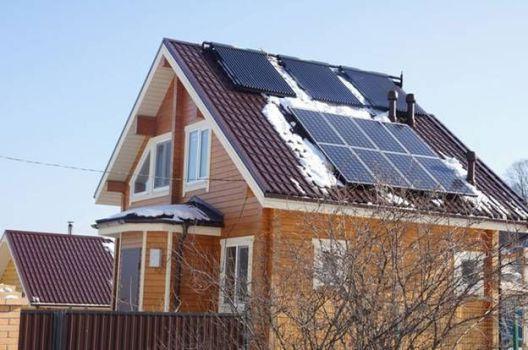 солнечные коллекторы в отопление дома