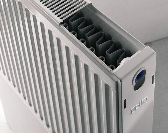 панельный радиатор в разрезе