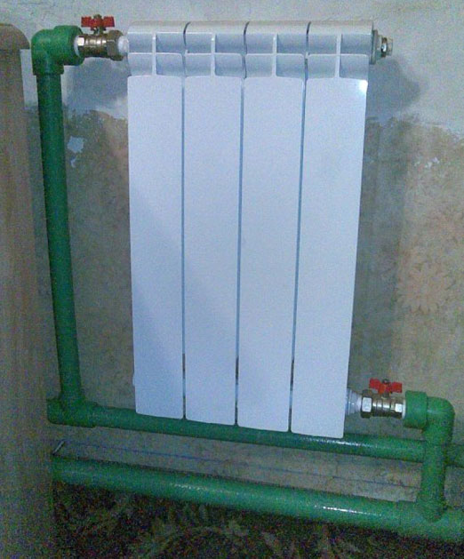 радиатор с несколькими секциями