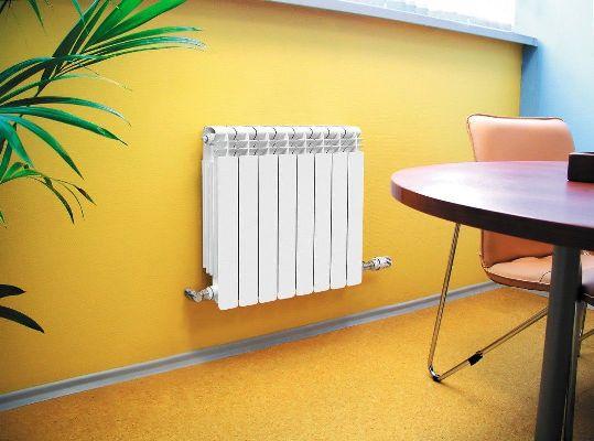 стальной радиатор отопления в работе