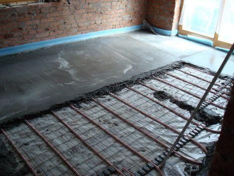 стяжка из бетона по теплому полу