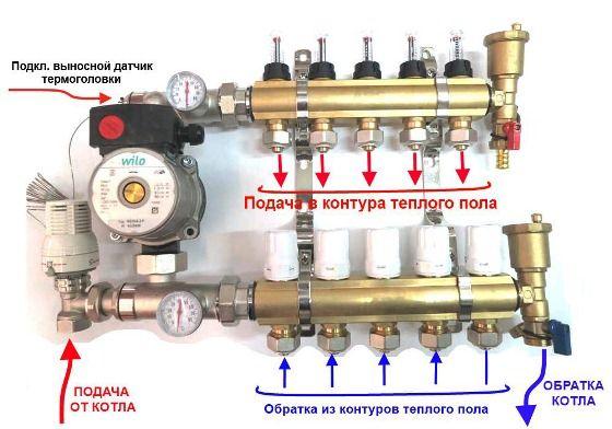 равномерное распределение отопления с клапаном