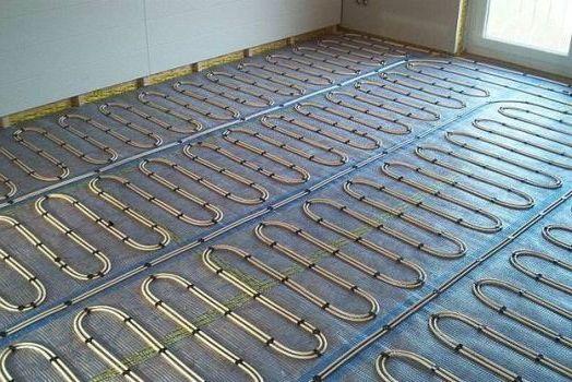 устройство теплого пола на бетонной стяжке