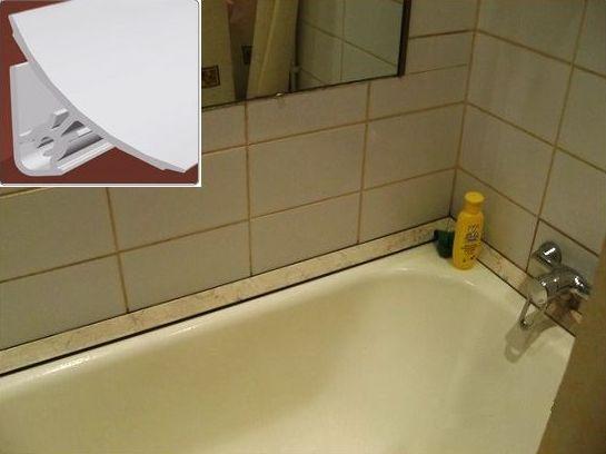 монтированный уголок на ванне