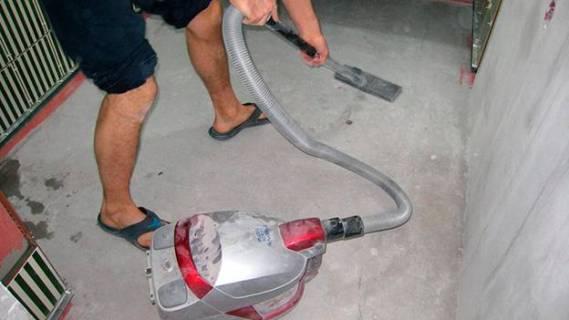 подготовка к работам пылесосом
