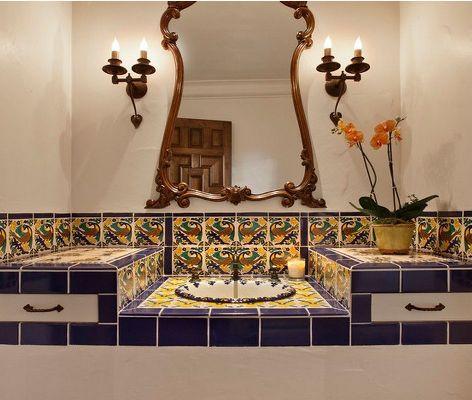 испанская плитка в натуральных оттенках глины