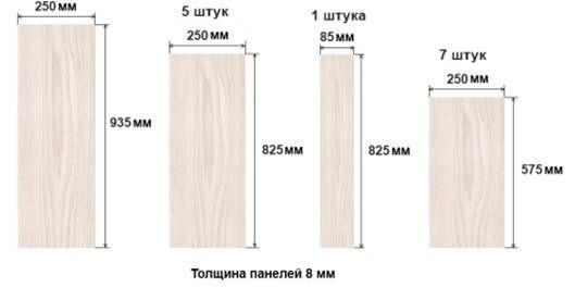 размеры и толщина