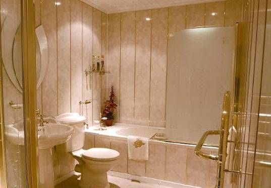 отделка стен ванной панелями